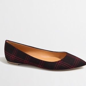 J.Crew Amelia Plaid Pointy Toe Flat